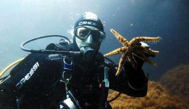 Unterwassertauchgang - Divingkurs Sizilien