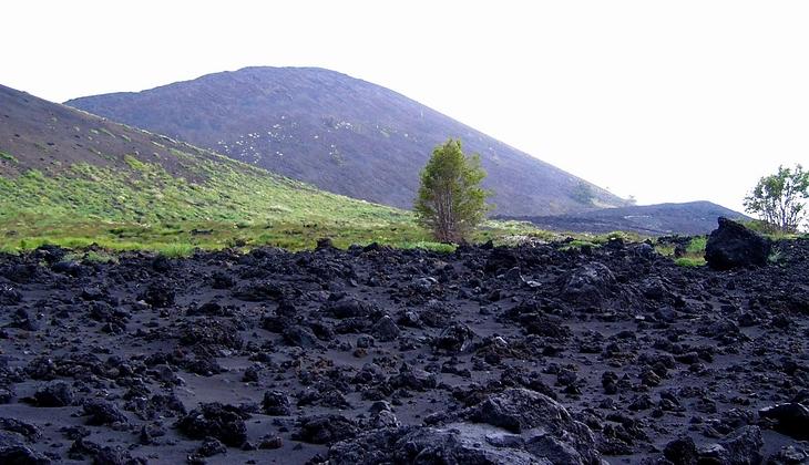 Aufstieg Vulkan Sizilien Natur Ätna Sizilien Ätna