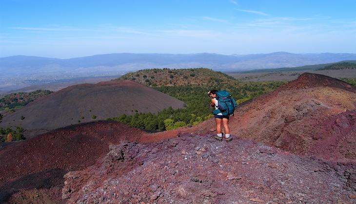 Trekking-Tour Vulkan Trekking im Gebirge Naturschönheit Siziliens Ätna