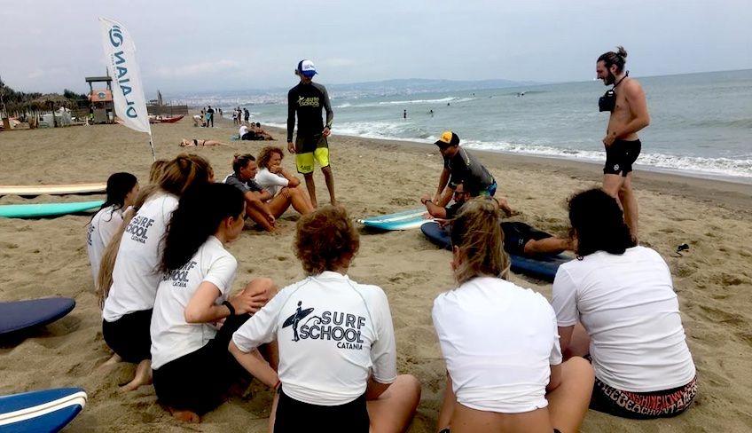 Windsurf Sizilien Schule - Verleih Windsurf