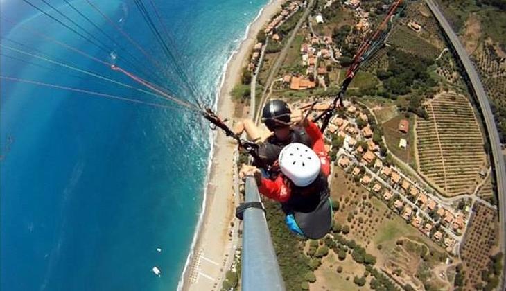 Paragliden Sizilien Flug mit dem Gleitschirm Schule Paragliden Sizilien