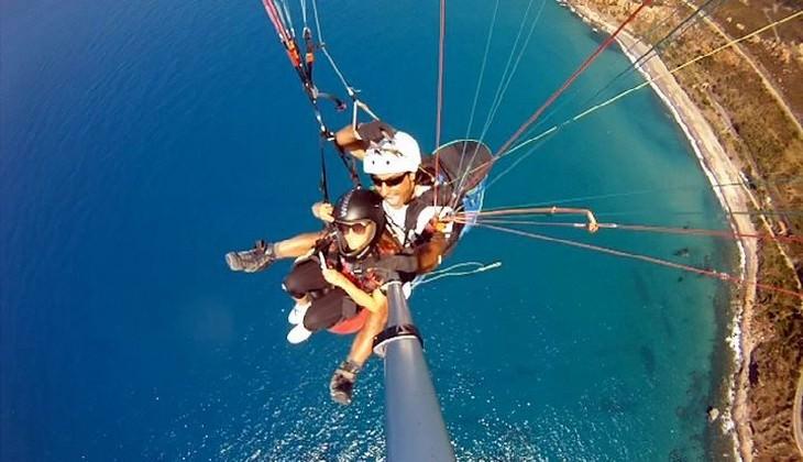 Paragliden Sizilien - Flug mit dem Gleitschirm