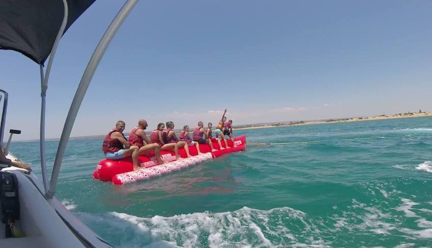 Bananenboot - Wasserspaß