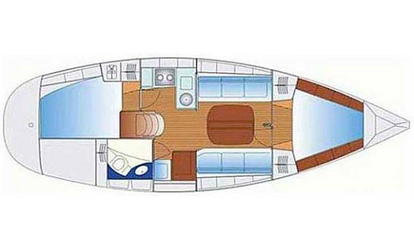 Wochenende auf dem Segelboot - romantischer Aufenthalt