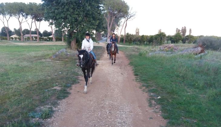 Pferderitt in Sizilien