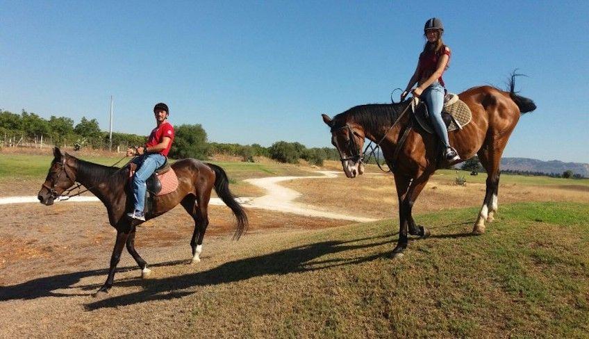 Pferderitt in Sizilien -