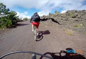 Ätna Mtb Fahrradfahren in Sizilien