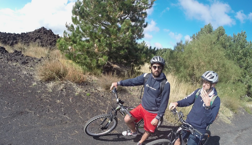 Radfahren in Sizilien den Ätna besuchen Fahrradfahren in Sizilien