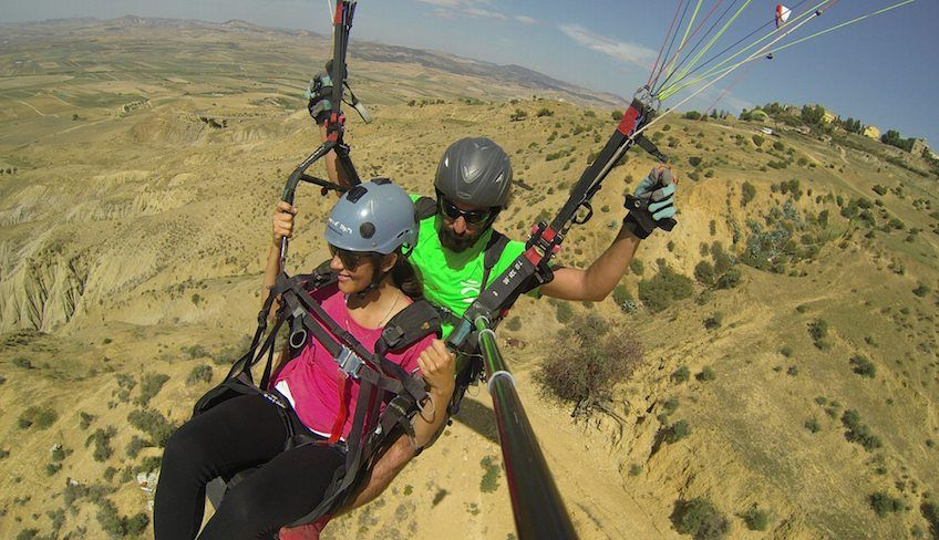Paragliding in Sizilien -