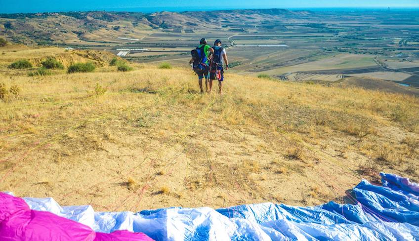 Paragliding in Sizilien
